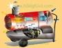 Mobil ipari kéményes gázolajos hőlégbefúvók.